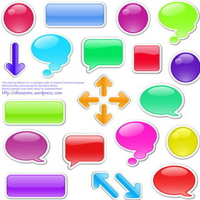Speech Bubbles Set 3 - vector gratuit #216319