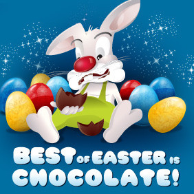 Best Of Easter Is Chocoloate - бесплатный vector #216349
