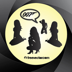 Bond Girls - vector #216369 gratis
