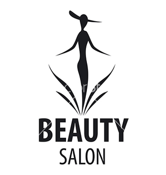 Free logo elegant woman for a salon beauty vector - vector gratuit #216429