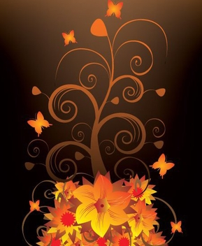 Night Blooming - vector gratuit #216449