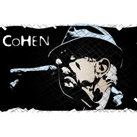 Leonard Cohen Tribute Vector - бесплатный vector #216539
