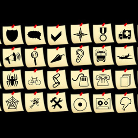 Set Of Vector Icons - Free vector #216579