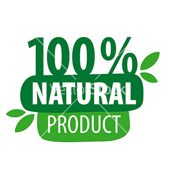 Free green logo for 100 natural products vector - vector gratuit #216779