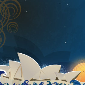 Sydney Opera House Theater - vector gratuit #216919