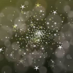 Vector Bubbles And Stars Dark Green - Free vector #216939