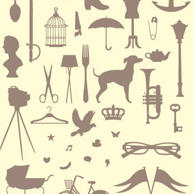 Victorian Silhouettes - Free vector #217029