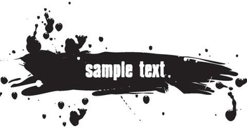 Ink Splash Banner - Free vector #217169