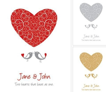 Wedding Card - vector gratuit #217189
