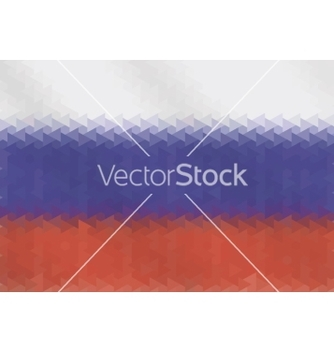 Free russian flag of geometric shapes vector - vector gratuit #217239
