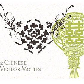 24 Free Chinese Vector Motifs - Free vector #217279
