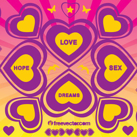 Love Hope Sex Dreams Vector - бесплатный vector #217339