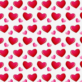 Valentines Day Seamless Vector And Photoshop Pattern - Free vector #217349
