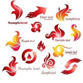 Fire Logotypes - vector gratuit #217409