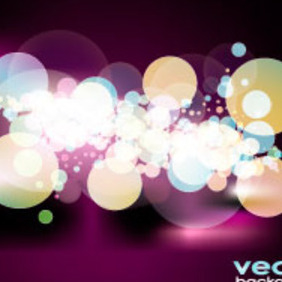 Bokeh In Black Background Vector Graphic - Free vector #217469