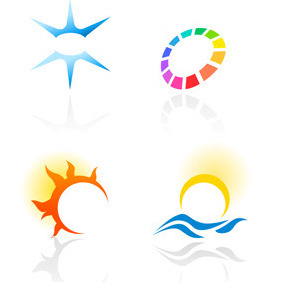 Abstract Colorful Logotypes 2 - vector #217489 gratis