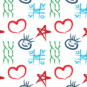 Children Pattern - vector gratuit #217599