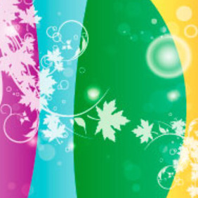 Flower In Four Colors Vector Background - Free vector #217629