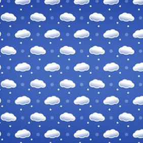 Cloud Seamless Photoshop And Vector Pattern - vector gratuit #217829
