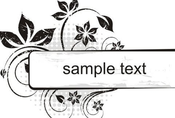 Sample Banner - Free vector #217909