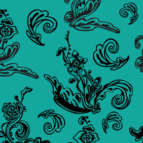 Free Floral Seamless Pattern - Kostenloses vector #217959
