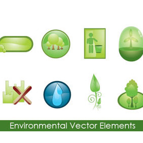 Environmental Vector Elements - Kostenloses vector #218079
