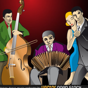 Tango-dance-music-orchestra - Free vector #218239