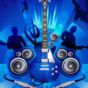 Rock Music Composition - vector gratuit #218279