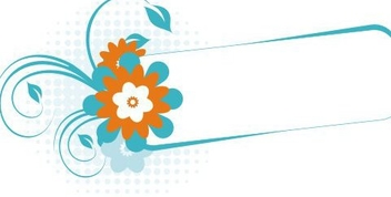 Turquoise banner - Free vector #218289