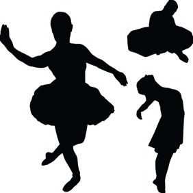 Vector With Dancer Silhouettes - бесплатный vector #218319