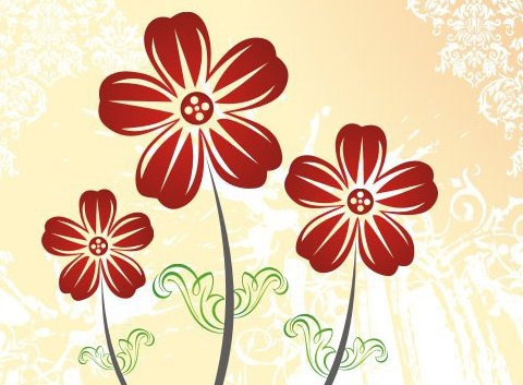 Autumn flowers - Free vector #218399