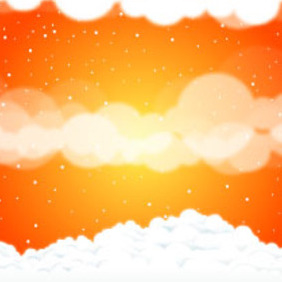 Sky Clouds Vector Art - Kostenloses vector #218539