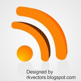 Vector 3D Rss Feed Icon - Free vector #218609