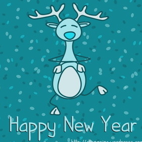 Happy New Year Card 1 - vector gratuit #218749
