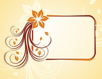 Flowery frame - Kostenloses vector #218799