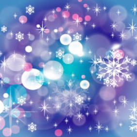 Winter Blue Stars Background - vector #218819 gratis