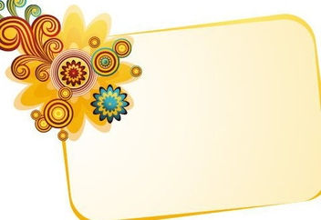 Banner with Flower - Free vector #218889
