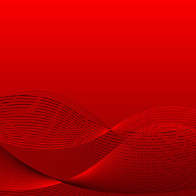 Red Wavy Vector Background - vector gratuit #218919