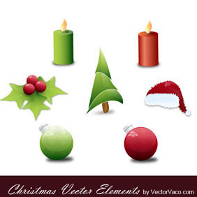Christmas Vector Elements - vector gratuit #218929