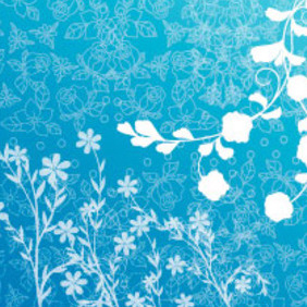Blue Spring Vector Design - Kostenloses vector #218969