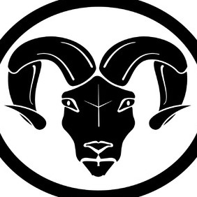 Aries Horoscope Vector Sign - vector #219109 gratis
