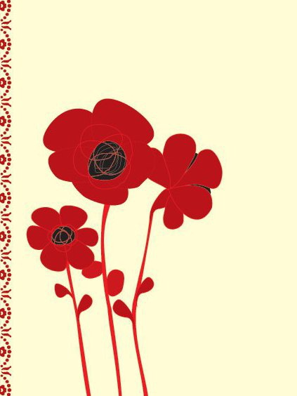 Poppy Card - Free vector #219279