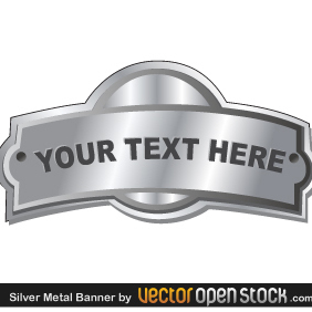 Silver Metal Banner - Free vector #219319