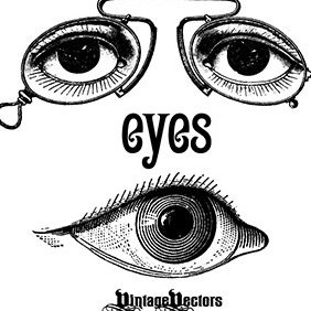 Antique Optometry Eye Glasses Graphic - Free vector #219339