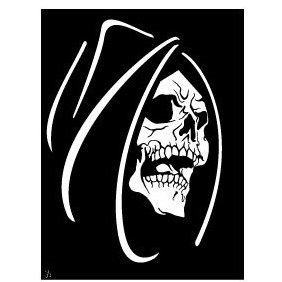 Death Face Vector - vector gratuit #219359