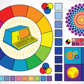 Color Graphics - vector #219649 gratis