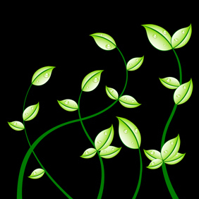 Dark Background With Petals - Free vector #219669