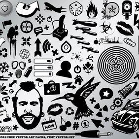 BW Design Pack - Free vector #219729
