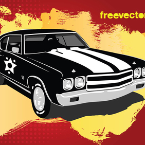 Retro Car Vector - Free vector #219809