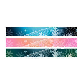 Christmas Banner Backgrounds - vector gratuit #219849